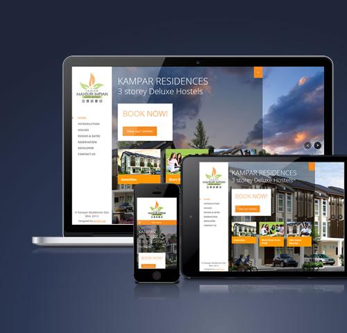 Kampar Residences website design