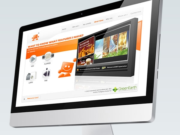 Squareface digital signage website design