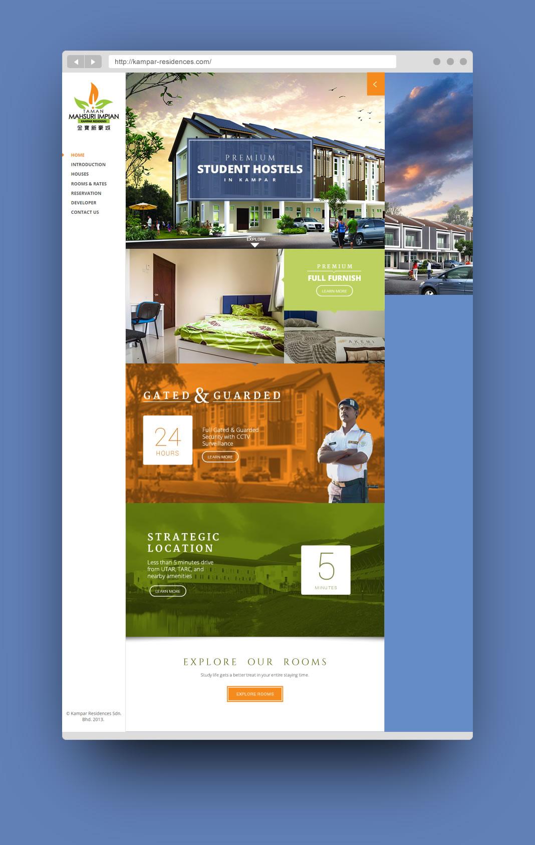 kampar hostel website design