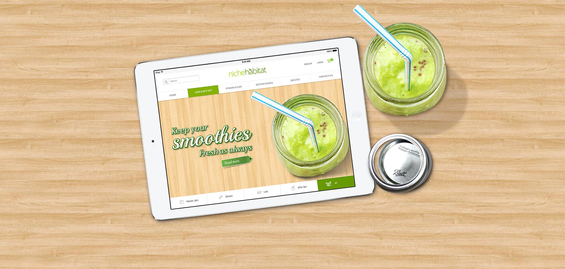 smoothies website design malaysia